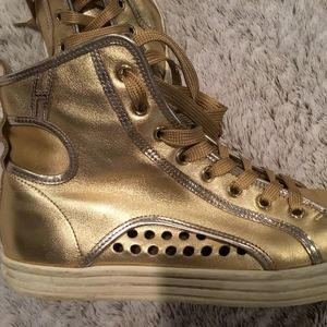 Gold Sneakers purchased in Paris